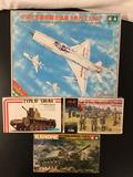 6x military plastic model kits, 1/35 scale; Tamiya M2A2 Infantry Fightng Vehicle, Alan SIG-33