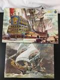 2x Heller plastic ship models; La Sirene, SEALED Corona.
