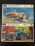 2x KSN motorized military plastic model kits, 1/40 scale; German Sd.Kfz.232 Armored Car, German