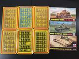 9x ESCI military plastic model kits, 1/72 scale; 6x soldier packs (one pack missing 3 figures) ,