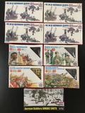 9x SEALED ESCI-ERTL plastic model kits; 1/72 scale; 4x WWII German Guns Pak 35 Pak 40-Flak 38, Zulu