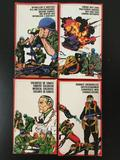 4x Atlantic plastic military soldier figures, HO scale; Machine Gunners and Mortar Men, Medical