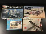 4x military aircraft plastic model kits, 1/48 scale; Revell-Monogram Pro Modeler P-47N Thunderbolt,
