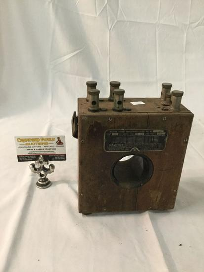 Antique Weston Current Transformer Model 461, no. 2187, made in USA