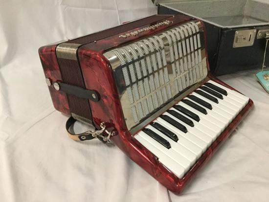 Vintage Barcarole Type 26/12 II Bandmaster Accordion, made in Germany