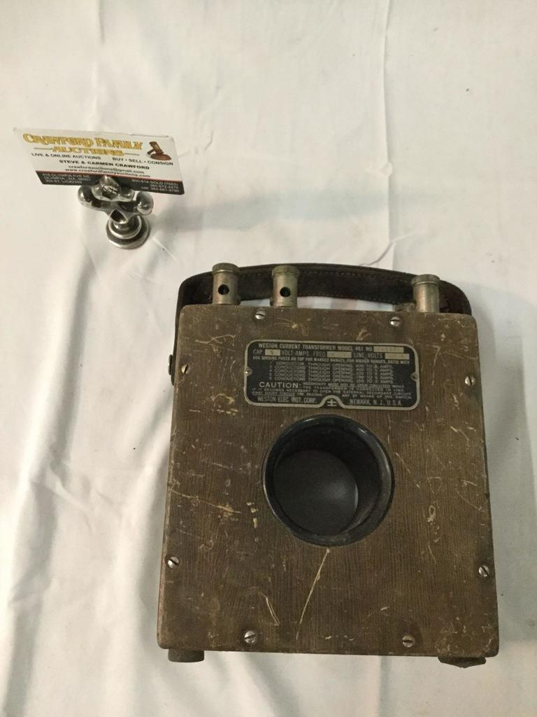 Antique Weston Current Transformer Model 461, no. 3326, made in USA