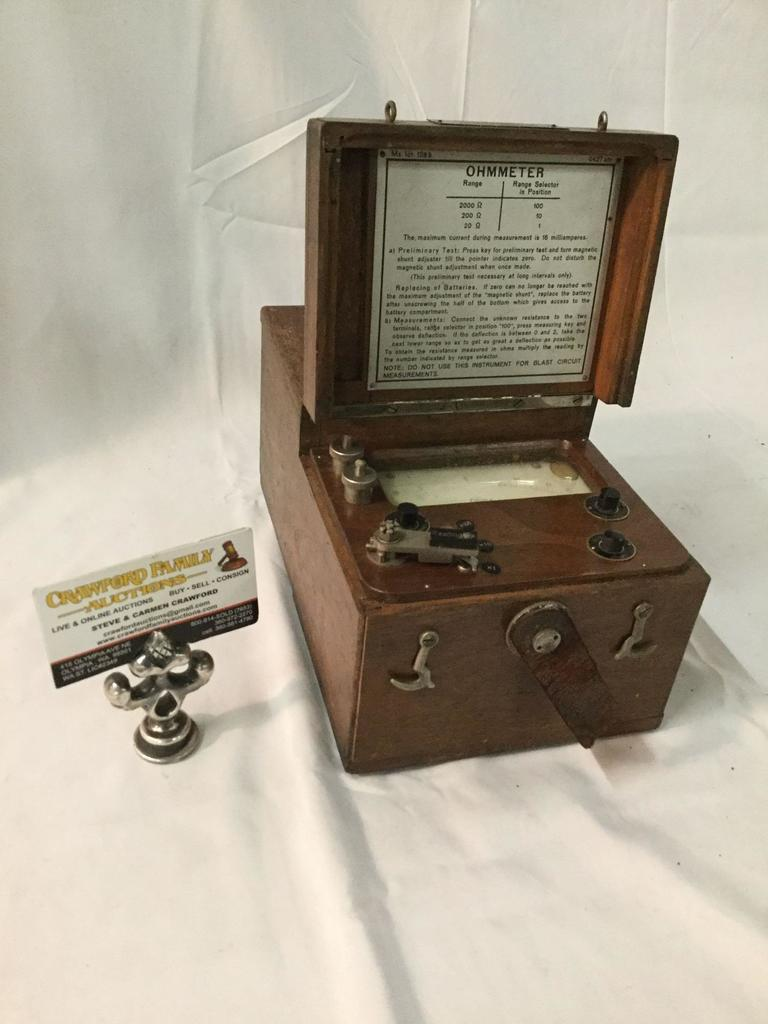Antique Herman H. Stricht and Co. Ohmer, Made in New York, NY