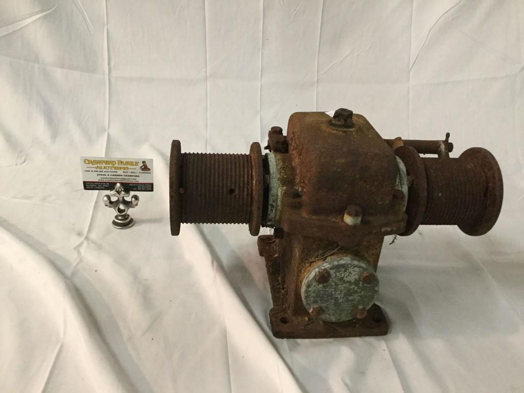 Antique Charles Bond Co. 40:1 speed reducer