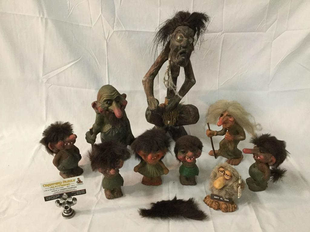 Designs of Scandinavia trolls - made in Norway - several styles and sizes - see pics