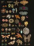 Lot of assorted Estate Jewelry , earrings, pins, rings, etc, see pics