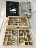 Window box full of beads/stones & jewelry making bits + Beadalon beading kit