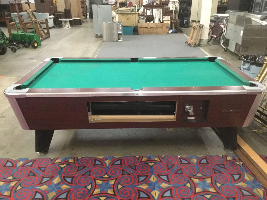 Great American Full Size Slate Top Pool Table, missing money box and system