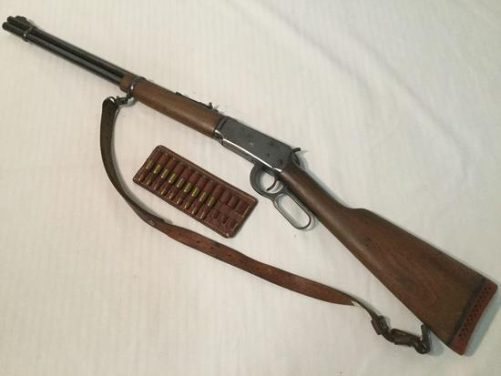 1956 Winchester .32 Caliber Lever Action Rifle, Model 94. Serial Number 2202861 w/ bullet holster