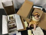 Lot of 2 porcelain baby dolls; Danbury Mint - Penny by Cindy Marschner Ralfe