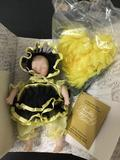 Franklin Heirloom Dolls - Baby Bugs - Porcelain doll 7 inches