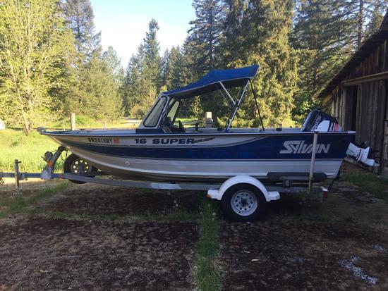1995 Sylvan sport/ fishing boat W / trailer and 2 outboards 6.0 Johnson / 50hp 2012 Tohatsu MD50B2