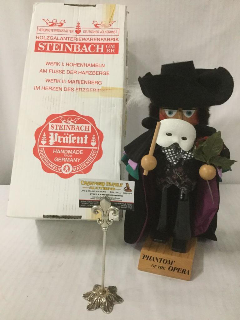 Phantom of the Opera - Nutcracker by Steinbach - handmade in Germany , with original box and tags