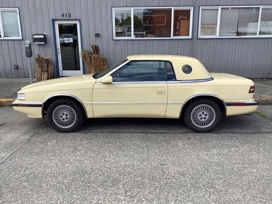 1990 Chrysler Maserati S TC, convertible soft top motor needs maintenance, 36500 miles + 2 sets of