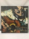 Original Lennon on Acoustic by KAT. 2007. Acrylic on Canvas - signed w/ COA - est value