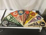 8 vintage 60s and 70s NFL pennants - various teams