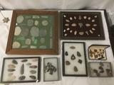 Huge lot of approx. 100 arrowheads in various shapes sizes, materials and regions - see pics