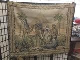 Vintage / antique Egyptian desert scene tapestry