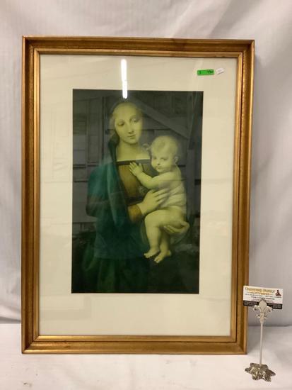 "Framed Print of ""Madonna de Granduca"" by renaissance artist Rafaello Sanzio 1504"