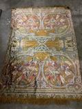 Vintage Middle Eastern/North African tapestry with camel/figure scene design