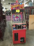 Laser-Tron Super Bank It II Arcade Game. Powers up, needs new launching mechanism, otherwise fully