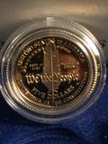 1987 United States Constitution 2 coin set w/ 90% silver dollar and 90% gold five dollar coin