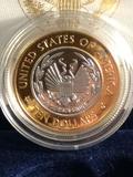 2000 Library of Congress Platinum and gold ten dollar coin w/ COA