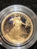 1991 gold proof 1 tenth ounce American Eagle coin