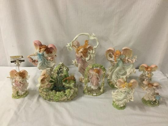 9 Seraphim angel statues by Roman INC - Beautiful Haven, Heavenly Beauty, Happiness Abounds, etc