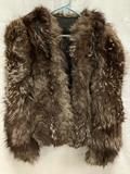 Custom made antique ladies fur coat, animal and maker unknown, approx size Small