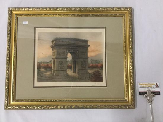 Arc de Triomphe de L'Etoile Paris hand signed print in frame - signed by John Stoddard