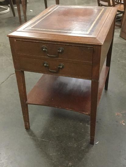 Vintage End Table with Drawer approx 24 x 17 x 23 inches