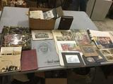 Huge lot of antique and vintage photos and art. B&W, color, photo albums, Harley Brown, etc. see