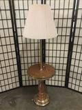 Vintage Lamp with End Table. 57 inches tall