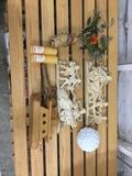 Lot Of Home Decor Items - Candles, Wall Art, Wood Boat + More