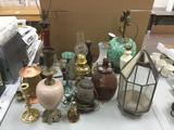 Big Lot Lighting Fixtures + Glass Bottles - Torches, Lamps, Sconces + More