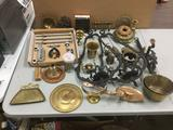 Large Lot Various Metal Tools and Home Decor - Sconces, Door Knobs + More