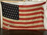 Antique US Army Standard 10ft flag of The United States of America with 45 stars