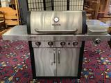 Char-Broil Tru Infrared BBQ gas grill with griddle, includes cover