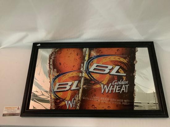 2009 Anheuser-Busch Budweiser Bud Light Golden Wheat beer advertising mirror