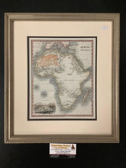 Framed engraved map of the Africa, by Arch and Fullerton and Co. (UK )- appraised at $150
