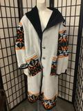 Wool overcoat made from a Pendleton blanket by artist/designer Angie Deale