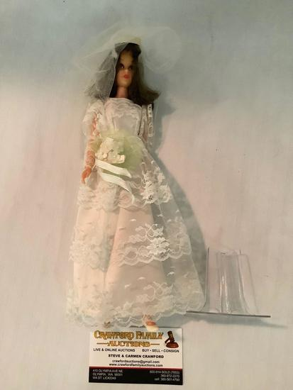Vintage Mattel Barbies Friend Francie doll with wedding dress (and bouquet) tagged Francie Mattel