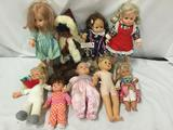 9x vinyl and plastic dolls. Mattel, simba and more. Largest doll measures approximately 18x9x4