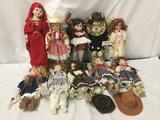 10x porcelain and composite dolls. Gorham, collectors choice and more. Largest doll measures