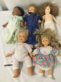 Five soft vinyl, vinyl, and ceramic dolls from Cititoy, Mattel, and a rare one from Art Craft N.Y.C.